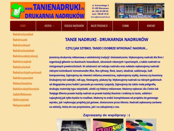 Agencja Reklamowa Tanie Nadruki Warszawa