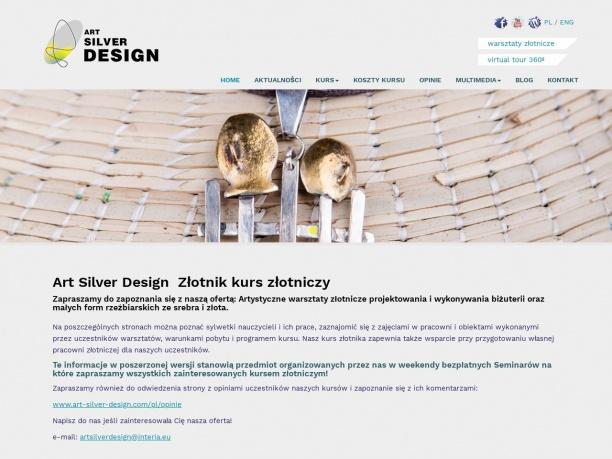 Art Silver Design Złotnik kurs złotniczy