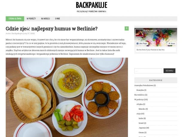 Backpakuje blog podróżniczy