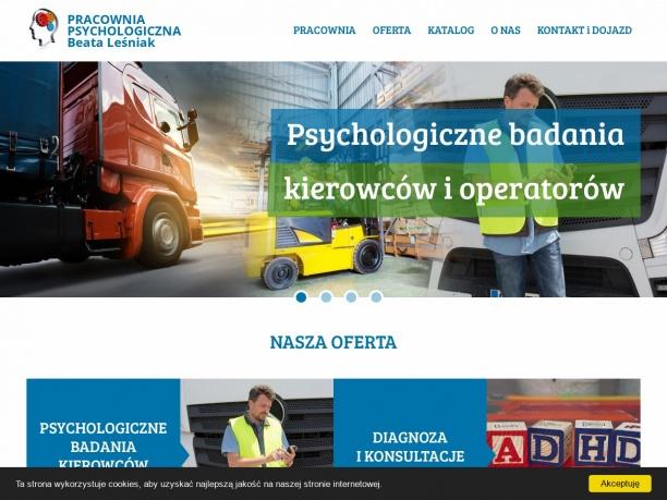 Badania kierowców i operatorów Limanowa