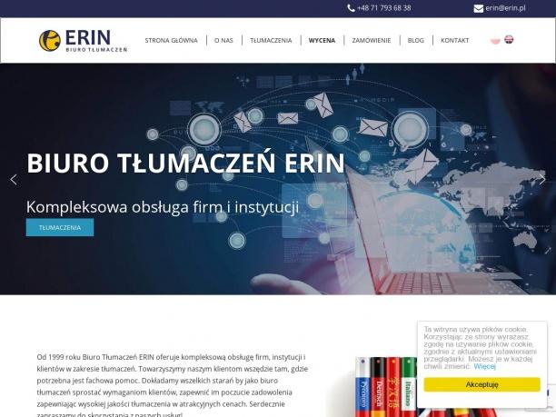 Biuro Tłumaczeń ERIN Profesjonalne tłumaczenia na czas