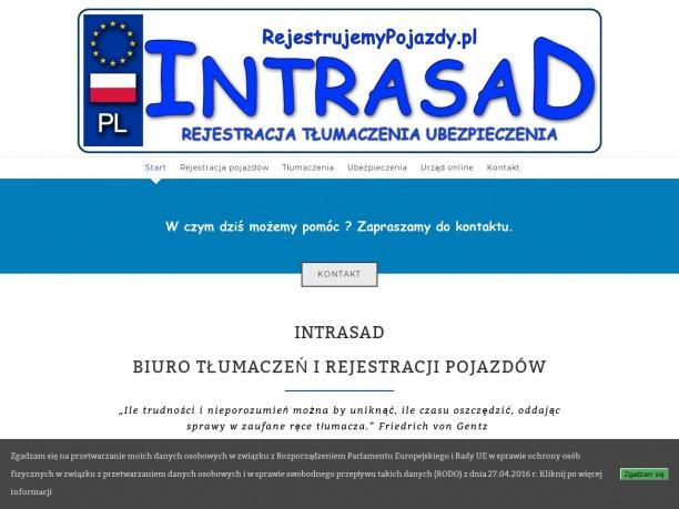 Biuro tłumaczeń i rejestracja pojazdów Intrasad