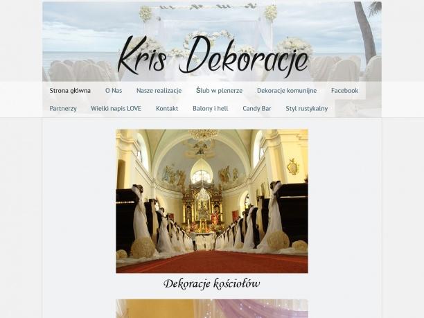 Dekoracje kompleksowe weselne ślubne kościołów Gorlice