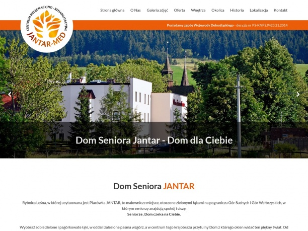 Dom Seniora JANTAR całodobowa opieka nad osobami starszymi