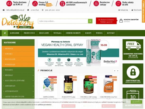 Ekologiczny sklep ze zdrową żywnością SKLEPdietetycznypl