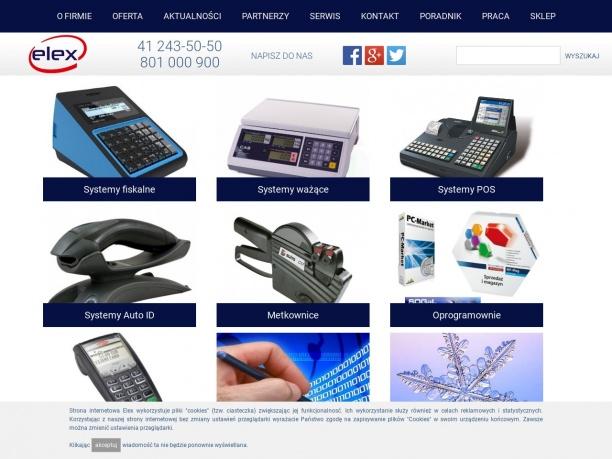Elex kasy fiskalne wagi elektroniczne metkownice
