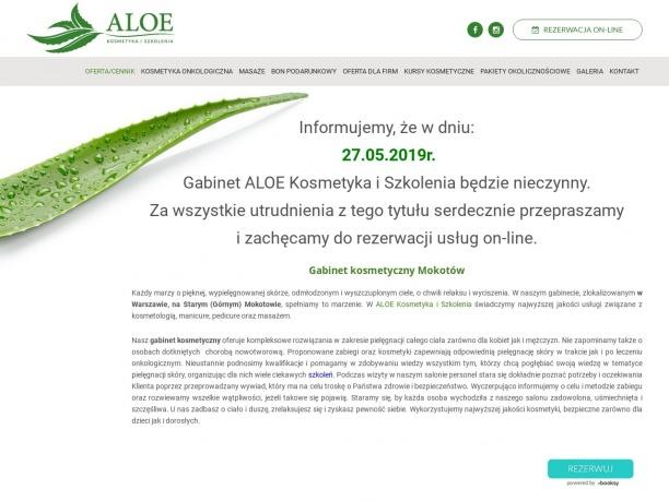 Gabinet kosmetyczno szkoleniowy ALOE