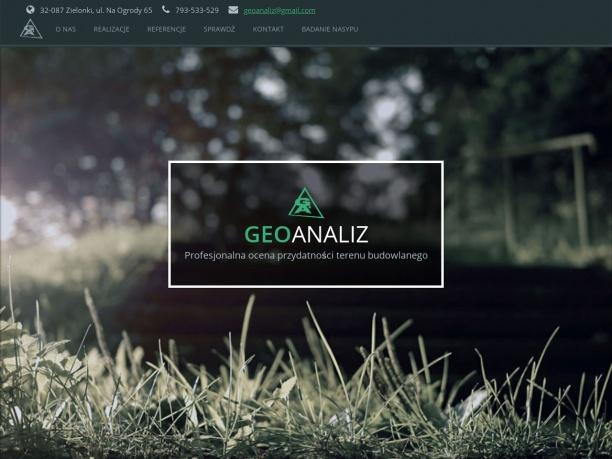 Geolog Kraków usługi geologiczne GeoAnaliz