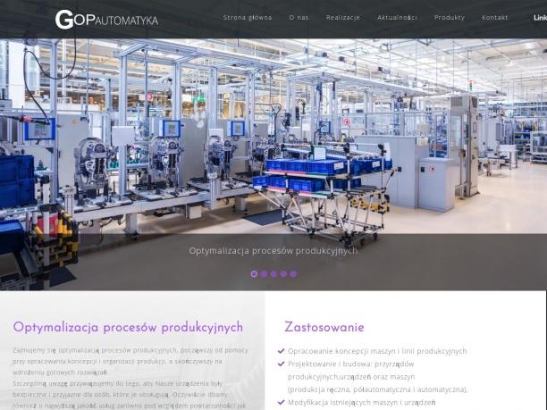 GOP Automatyka projektowanie i budowa maszyn