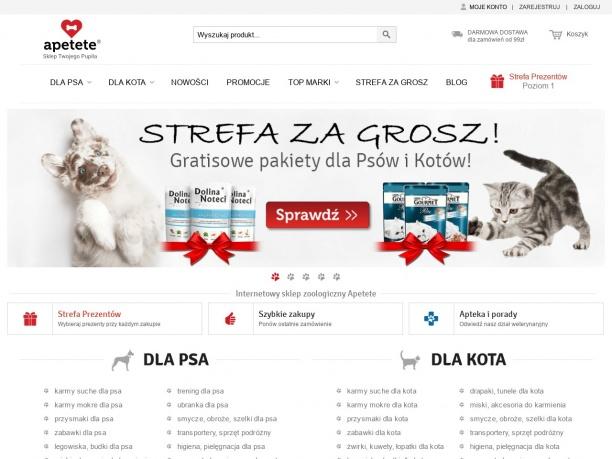 Internetowy sklep zoologiczny Apetete