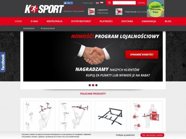 K Sport sklep z profesionalnym sprzętem sportowym
