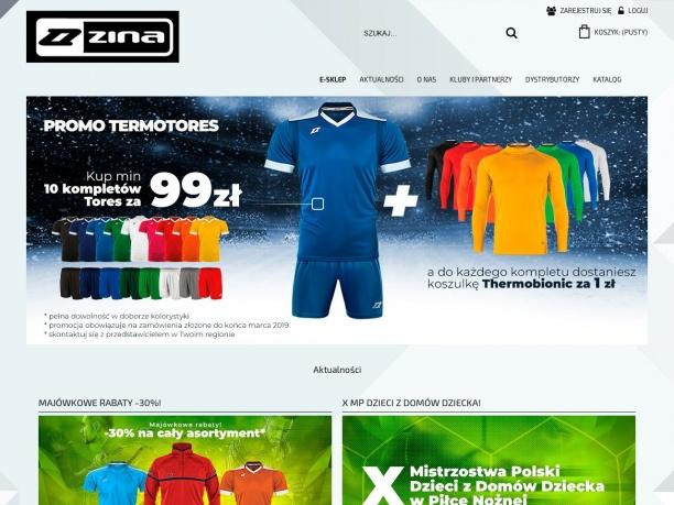 Koszulka treningowa i piłkarska dla juniorów w sklepie Zina