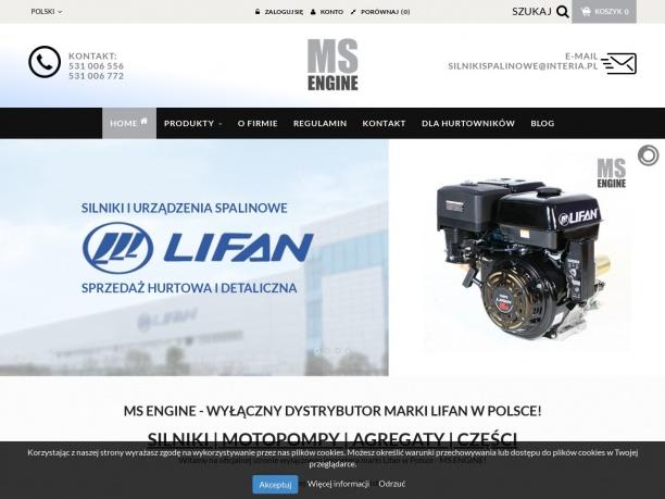 Lifanpower Silniki Motopompy Agregaty Części zamienne