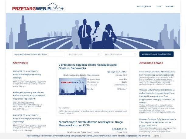 Ogłoszenia o ofertach inwestycyjnych i przetargach na nieruchomości