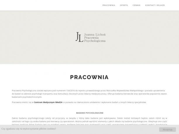 Pracownia Psychologiczna Joanna Lichoń