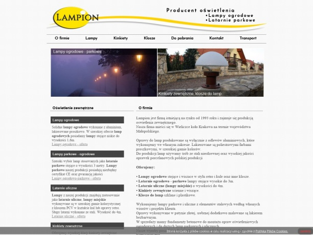 Producent lamp i latarni ogrodowych