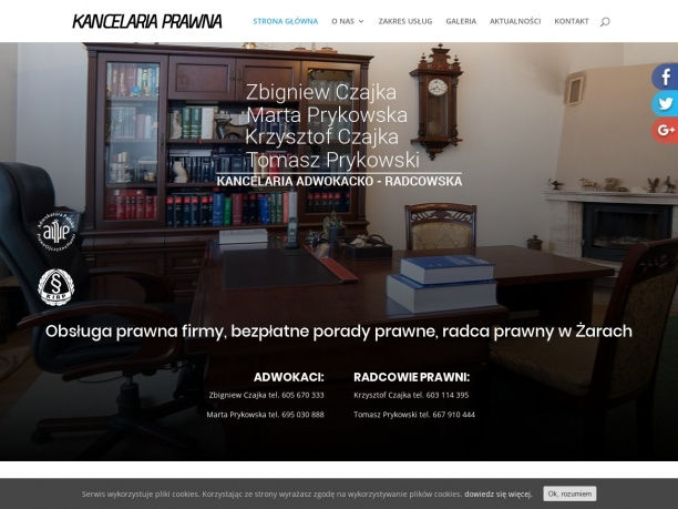 Prykowska Marta adwokat Czajka Zbigniew adwokat Kancelaria prawna