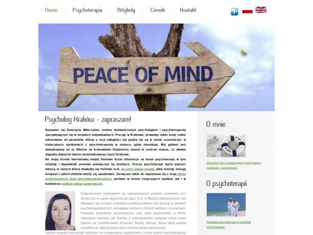 Psychoterapeuta psycholog w Krakowie i okolicach