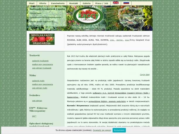 Sadzonki truskawek ekologiczne Licencja Geoplant Vivai Dokładne opisy odmian