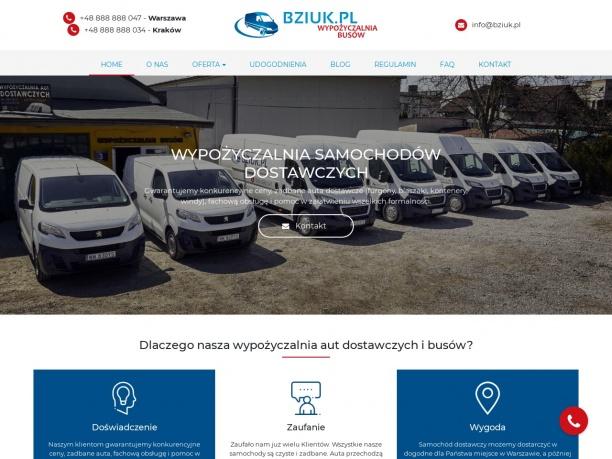 Samochody dostawcze na wynajem Warszawa