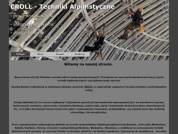 Techniki Alpinistyczne prace na wysokości Śląsk Wodzisław Katowice Jastrzębie