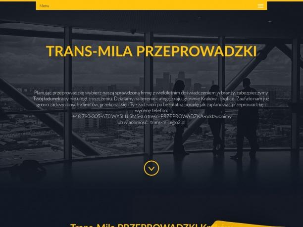 Trans Mila najtańsze przeprowadzki transport Kraków Polska Europa