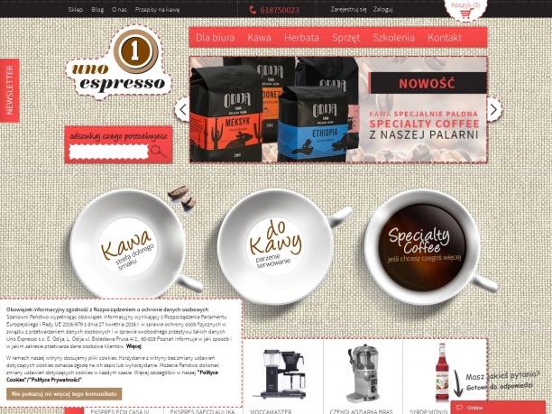 Uno Espresso sklep z kawą herbatą i akcesoriami