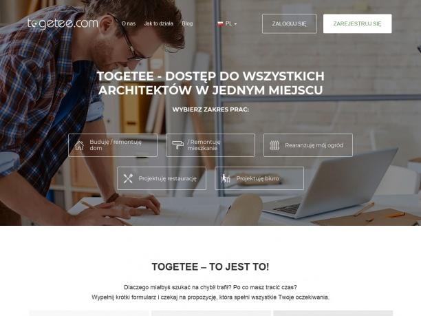 Wyszukiwarka architektów Togetee