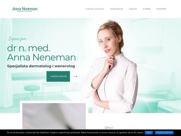 Anna Neneman Specjalista dermatolog, wenerolog.