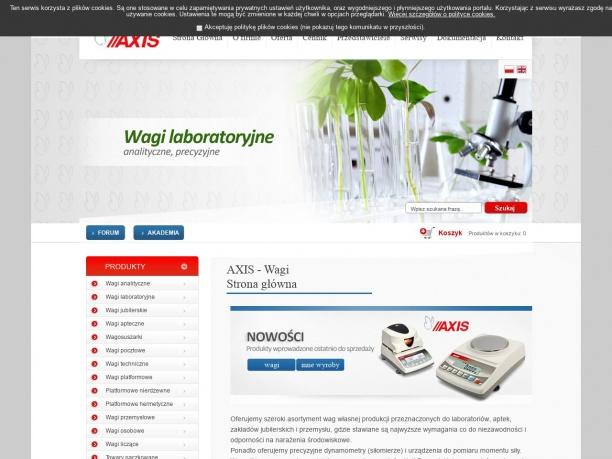 AXIS Wagi techniczne