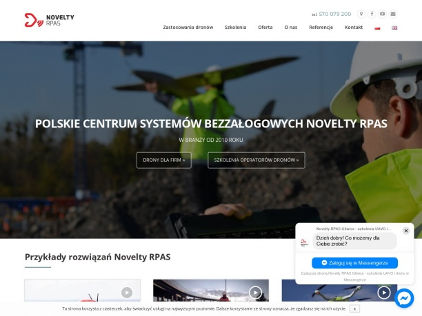 Produkcja i projektowanie bezzałogowych systemów latających dronów prowadzenie szkoleń na operato