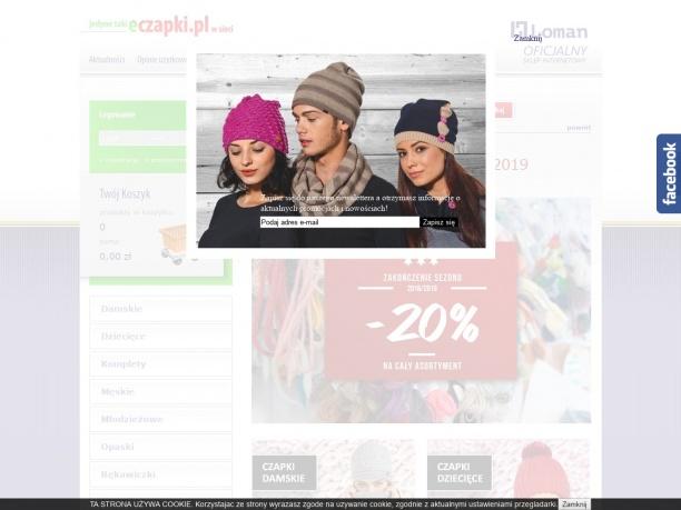 Sklep internetowy oferujący czapki zimowe