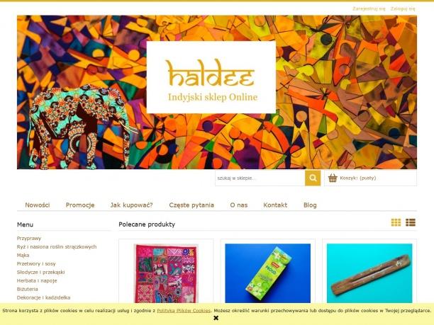 Haldee - indyjski sklep online