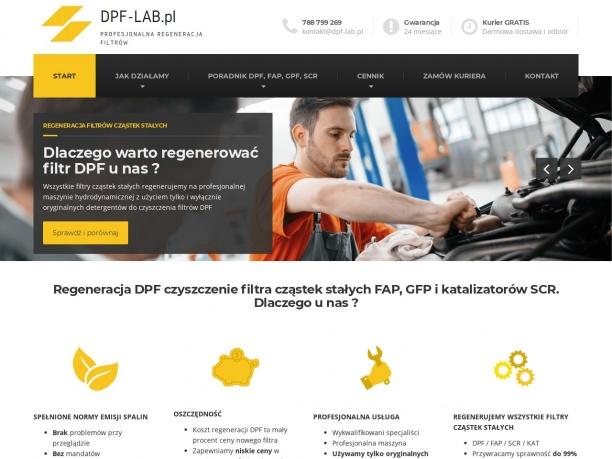 DPF-LAB.pl Regneracja DPF czyszczenie FAP SCR