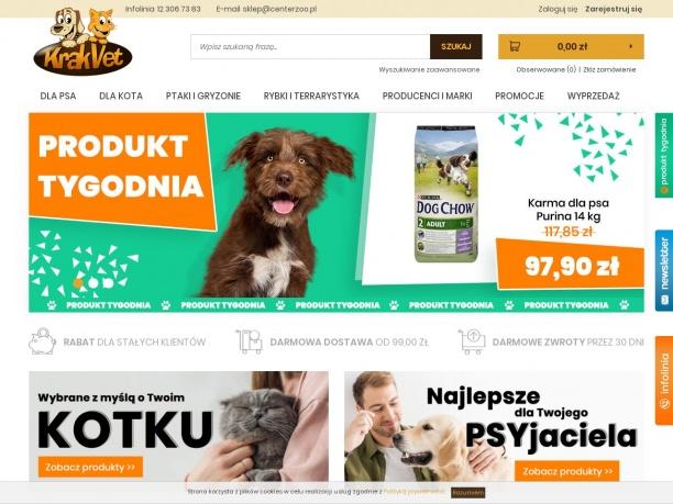 Internetowy sklep zoologiczny KrakVet.pl