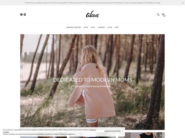 Sklep internetowy Marki Aloue - Ubrania ciążowe i do karmienia