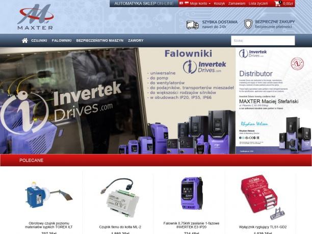 sklep.maxter.pl - czujniki, falowniki, komponenty bezpieczeństwa maszyn