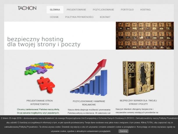 Tachion - strony internetowe