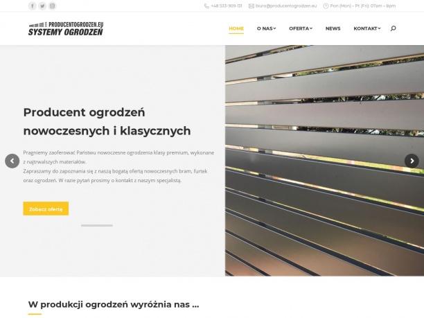 Producentogrodzen.eu |Produkcja systemów ogrodzeń, bramy furtki, przęsła