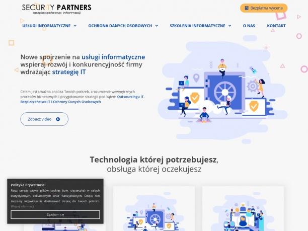 Security Partners - Usługi informatyczne, Ochrona Danych Osobowych, Bezpieczeństwo IT