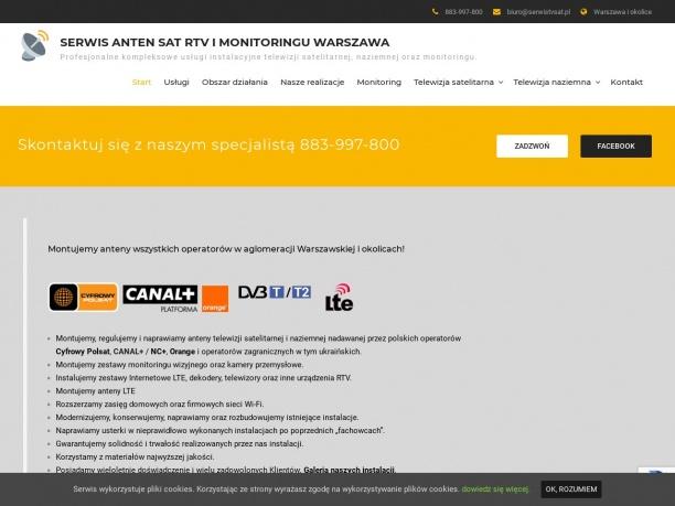 Serwis Anten SAT RTV Warszawa