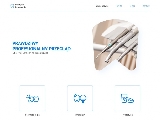 Dentysta Domaradz - Stomatologia, Implanty, Protetyka