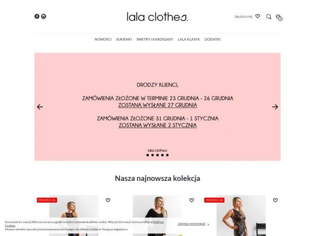 LalaClothes - Modne sukienki, bluzki, dodatki w przystępnych cenach