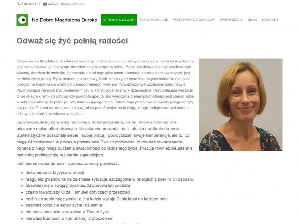 Gabinet Na Dobre Magdalena Durska