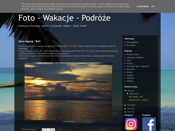 Wakacyjny foto-blog, relacje z wycieczek, zdjęcia | plaże, hotele.