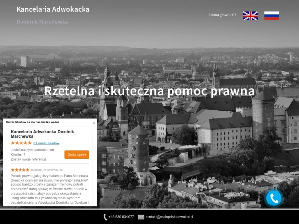 Małopolski Adwokat Dominik Marchewka www.malopolskiadwokat.pl
