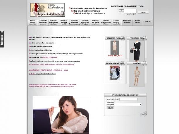 Sklep internetowy z odzieżą damską gotową i szytą zdalnie na zamówienie