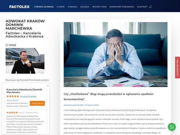 Blog prawny Adwokata Dominika Marchewki z Krakowa
