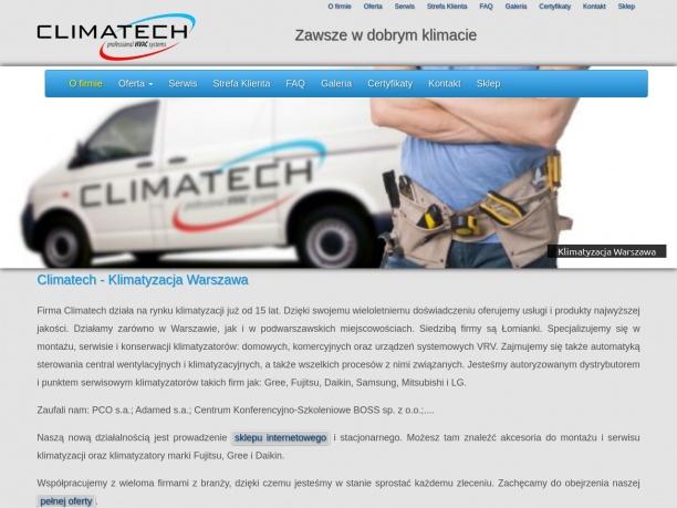 Climatech - montaż i serwis klimatyzacji, usługi klimatyzacyjne, naprawa klimatyzacji.
