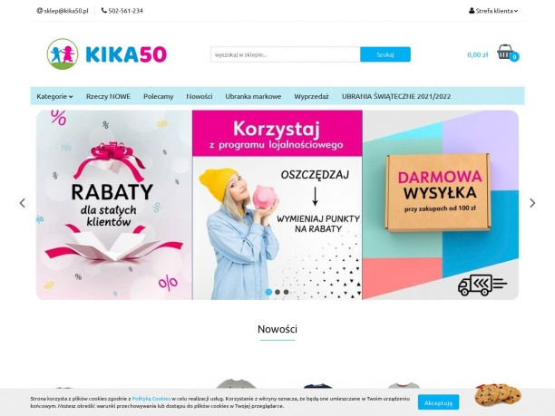 Dziecięca odzież używana w sklepie Kika50 online